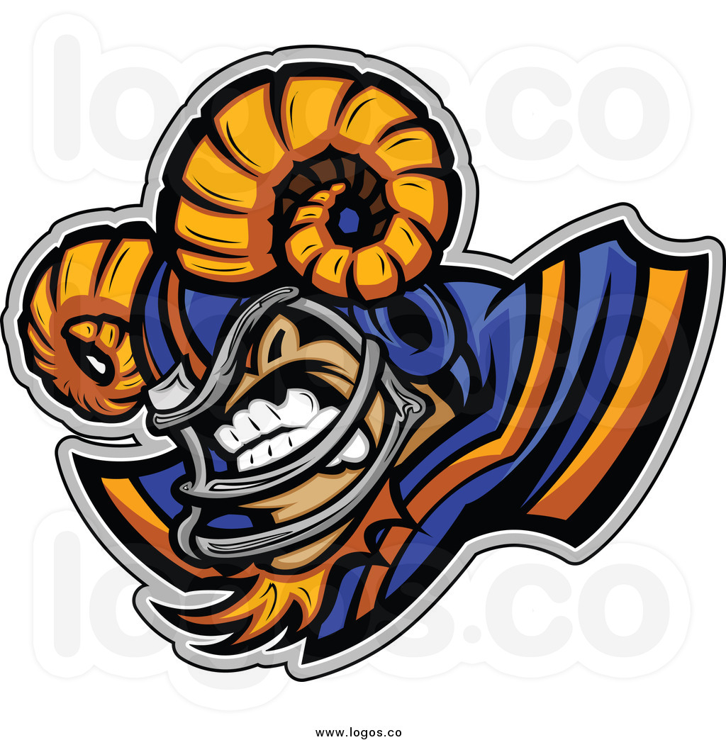 1024x1044 Ram Football Clipart
