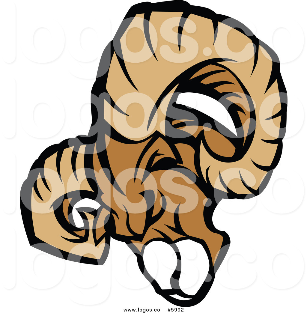 1024x1044 Royalty Free Vector Of A Logo Of A Ram Mascot Head Charging