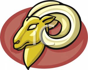 300x240 The Head Of Aries The Ram Clipart Picture