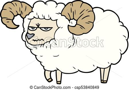 450x315 Cartoon Angry Ram Eps Vector