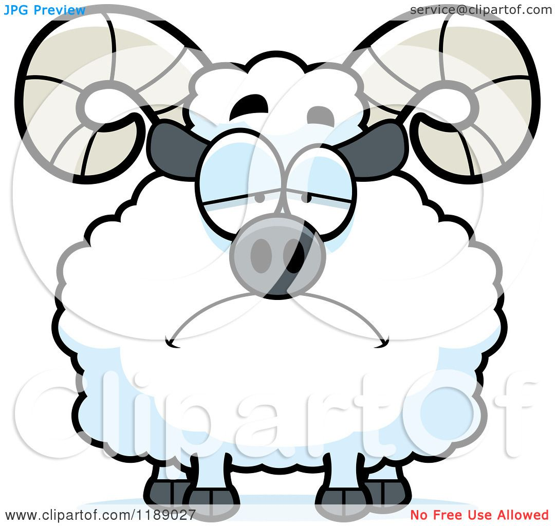 1080x1024 Cartoon Of A Depressed Ram Mascot