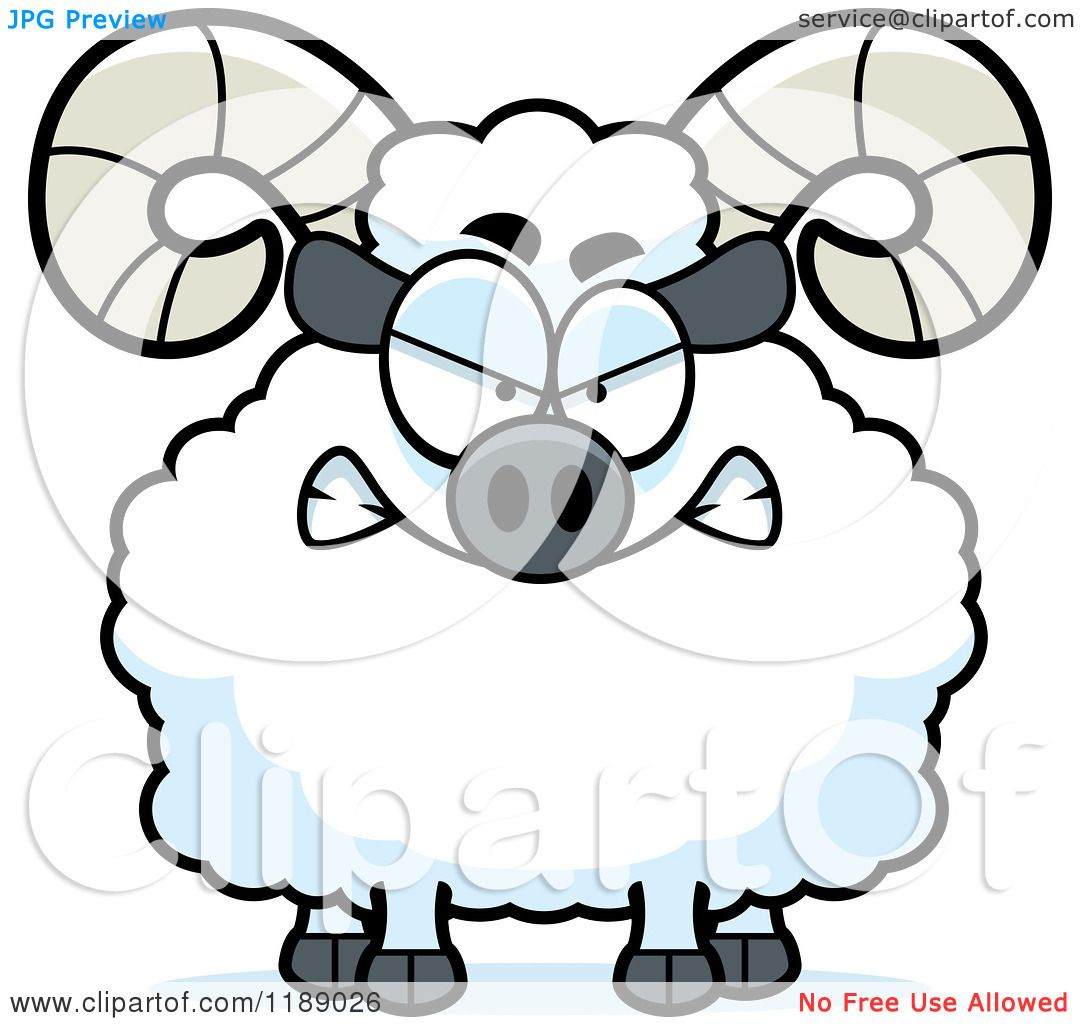 1080x1024 Cartoon Of A Mad Ram Mascot