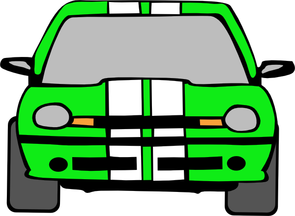600x440 Dodge Neon (Green) Clip Art