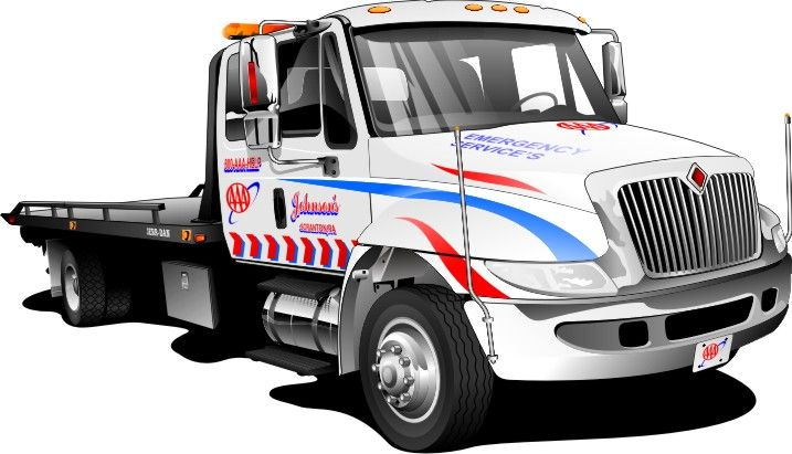 717x411 Flatbed Truck Graphics