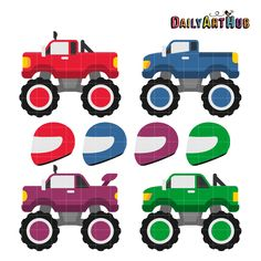 236x236 Monster Trucks Svg Scrapbook Collections Monster Trucks Cut Files