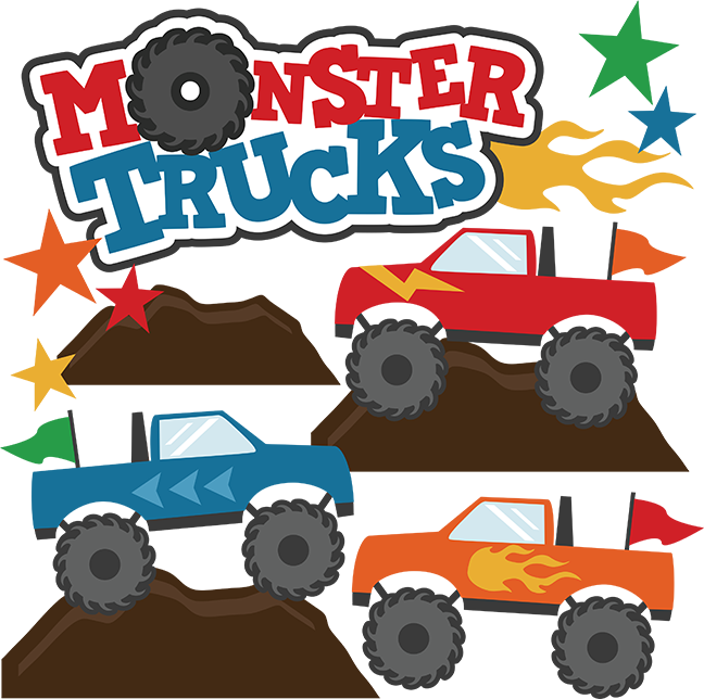 648x644 Monster Trucks Svg Scrapbook Collections Monster Trucks Cut Files