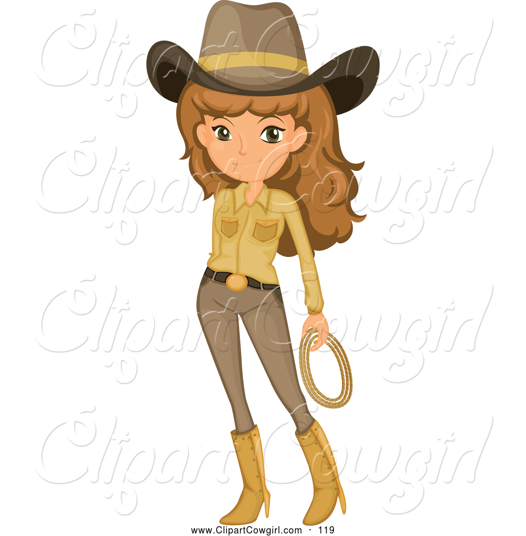 1024x1044 Clipart Of A Cowgirl Or Ranger Woman, On White By Graphics Rf