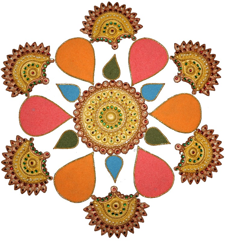 748x800 Collection Of Deepavali Rangoli Clipart High Quality, Free