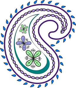 258x298 Paisley Pattern Clipart