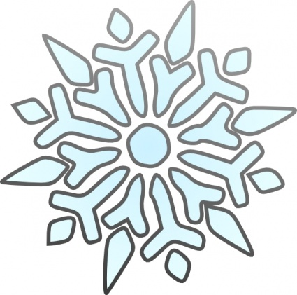 425x421 Snowflake Clipart Black And White Clipart Panda