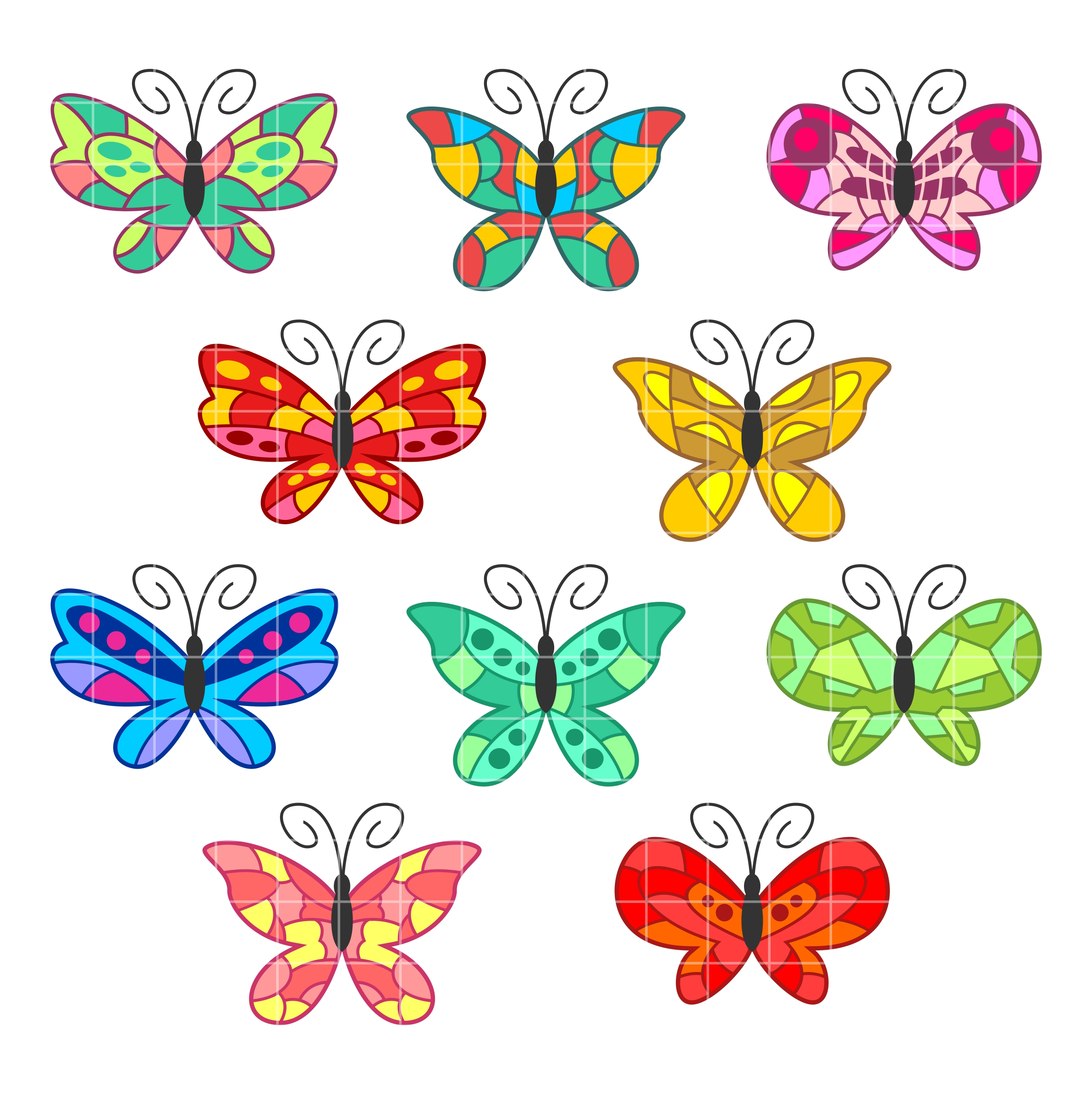 2664x2670 Colorful Clipart Designs Cliparts
