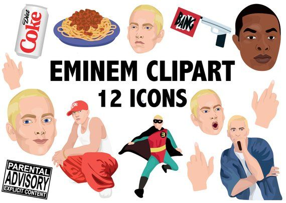 570x404 Eminem Clipart Hiphop Clipart Slim Shady Marshall Mathers Rap
