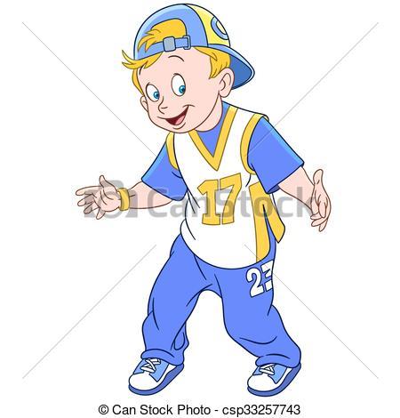 450x470 Happy Cartoon Rapper Boy. Cute And Happy Young Cartoon Eps