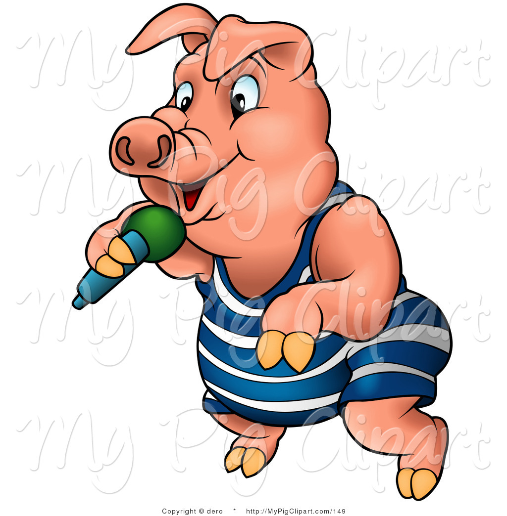 1024x1044 Swine Clipart Of Pink Pig In Clothes, Dancingnd Rapping