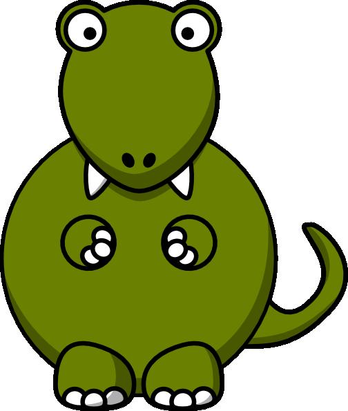 504x595 Free Cute Dinosaur Clipart Image