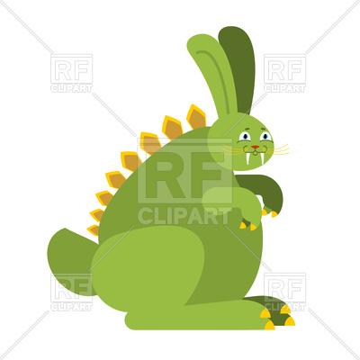 400x400 Prehistoric Rabbit Dinosaur. Raptor Hare Monster Royalty Free
