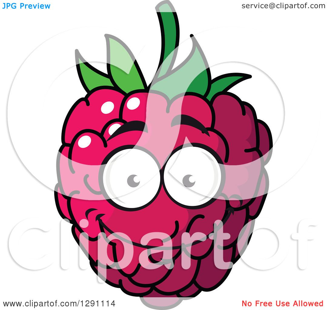 1080x1024 Clipart Of A Happy Smiling Raspberry Character