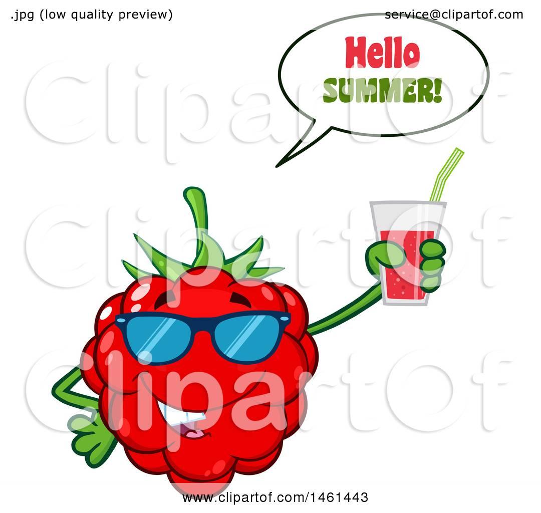 1080x1024 Clipart Of A Raspberry Mascot Character Wearing Sunglasses, Saying
