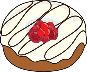 300x249 Donut Clip Art White Cream