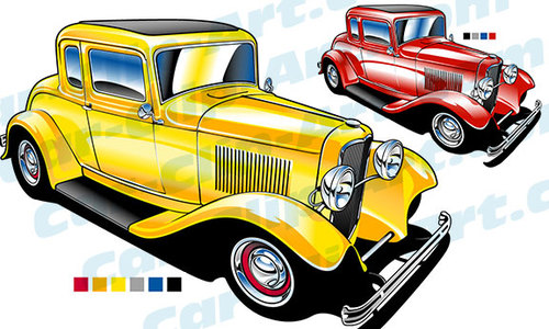 500x300 Vector Hot Rod Clip Art For Your Next Project Car Clip