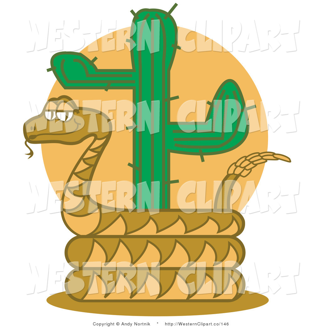 1024x1044 Vector Western Clip Art Of A Brown Rattlesnake Holding Out His