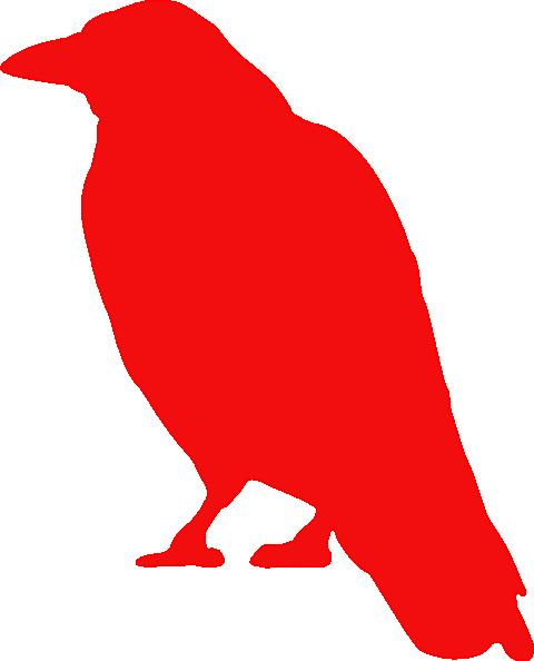 480x594 Red Raven Clip Art