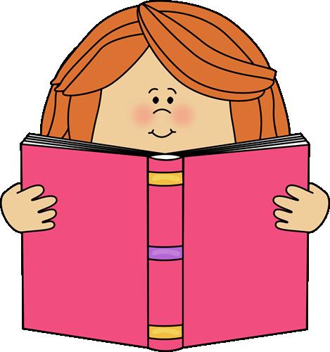 469x500 Girl Reading Clip Art Girl Reading A Book Clip Art Image