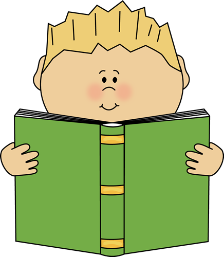 436x500 Boy Reading A Book From Mycutegraphics School Kids Clip Art