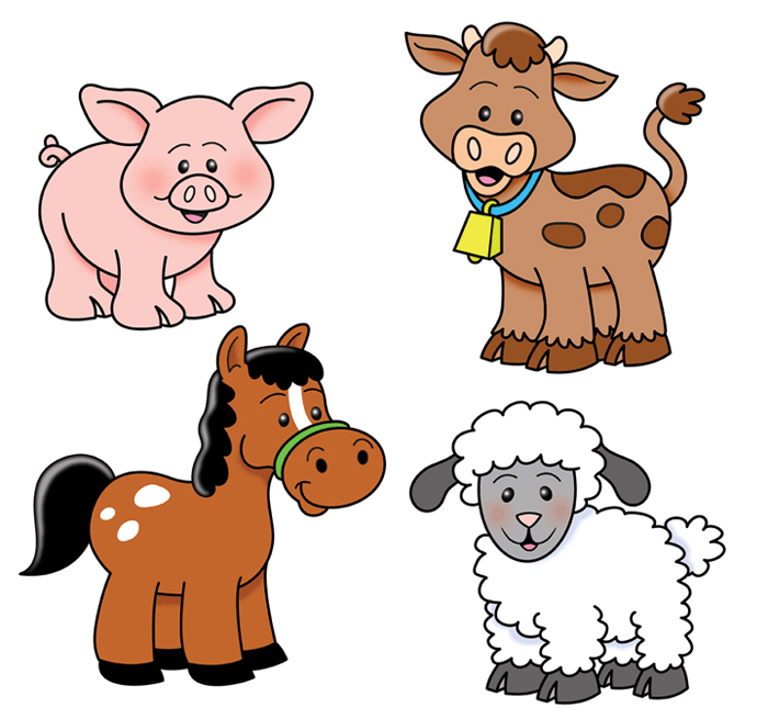 700x655 Adorable Baby Farm Animals Clip Art And Free Clipart Farm Animals