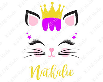 340x270 Cat Svg Kitty Svg Kitty Face Svg Cat Clip Art Cute Cat
