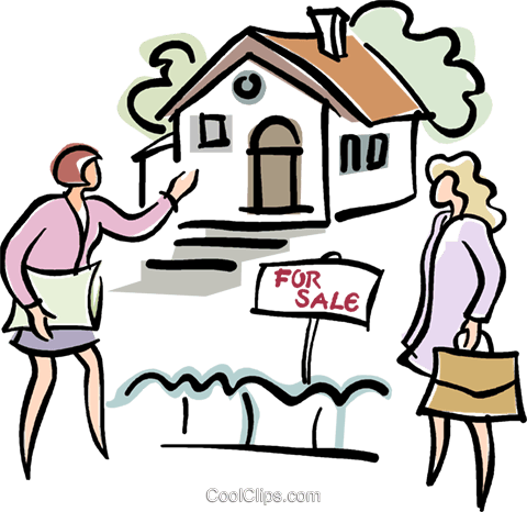 480x466 Real Estate Agent Showing A Home Royalty Free Vector Clip Art