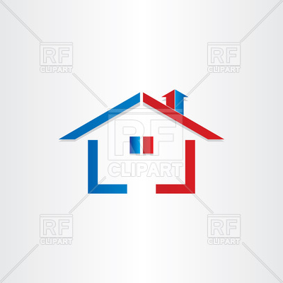 400x400 Real Estate House Icon Royalty Free Vector Clip Art Image