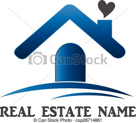 450x406 Real Estate House Logo. Real Estate House Love Card Template
