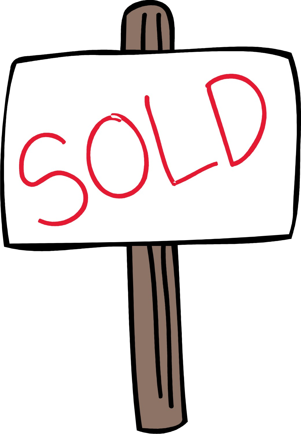 1040x1500 Real Estate Sold Sign Clipart