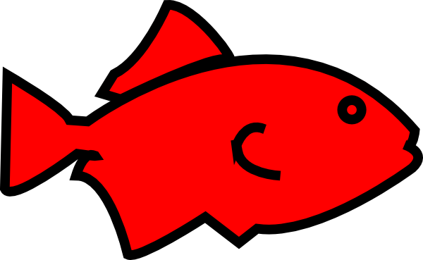 600x369 Fish Outline Clip Art 7