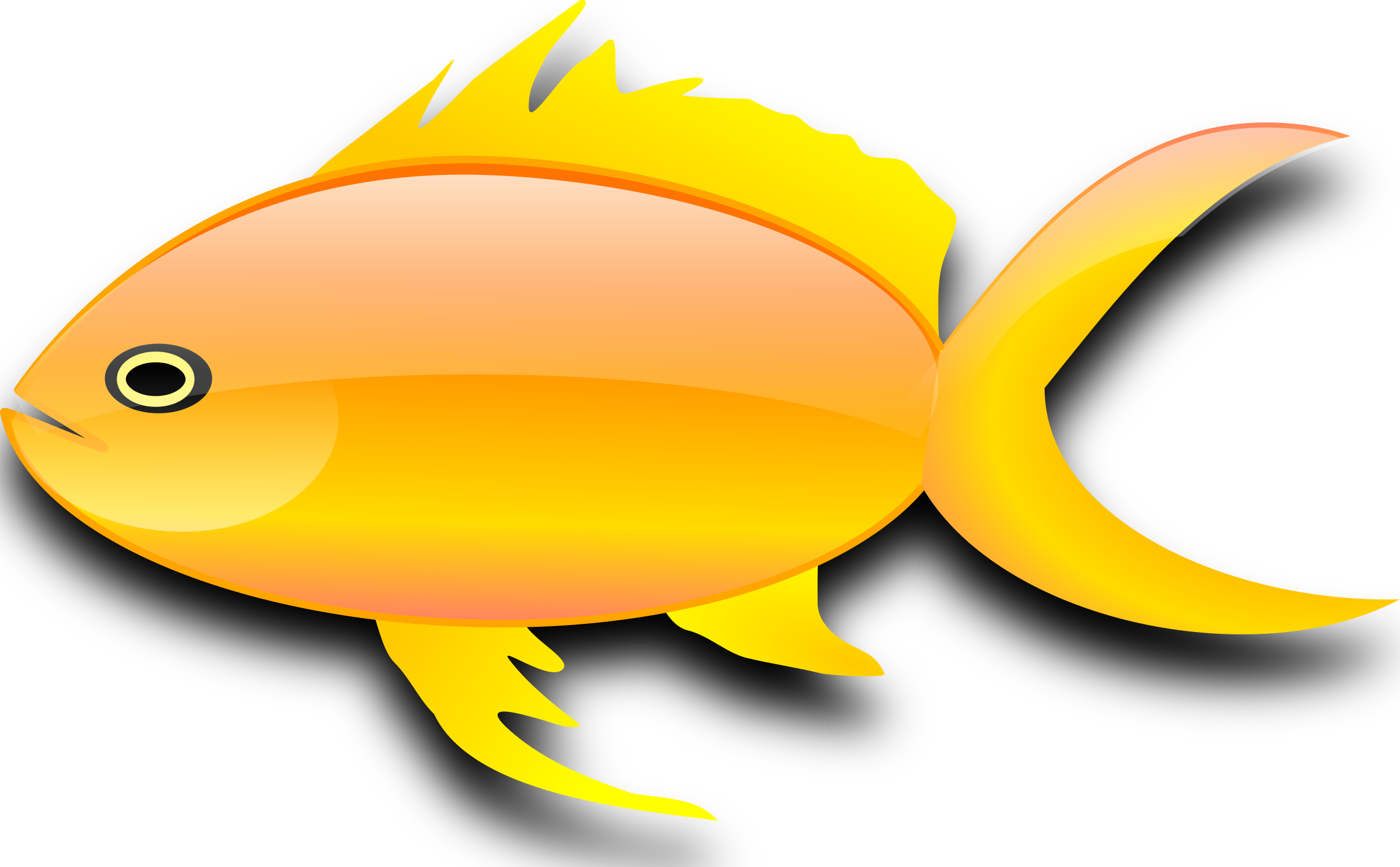 2400x1487 Gold Fish Clipart Orange Fish