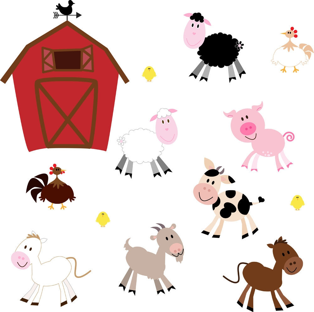 1000x995 Awesome Farm Animals Clipart Design