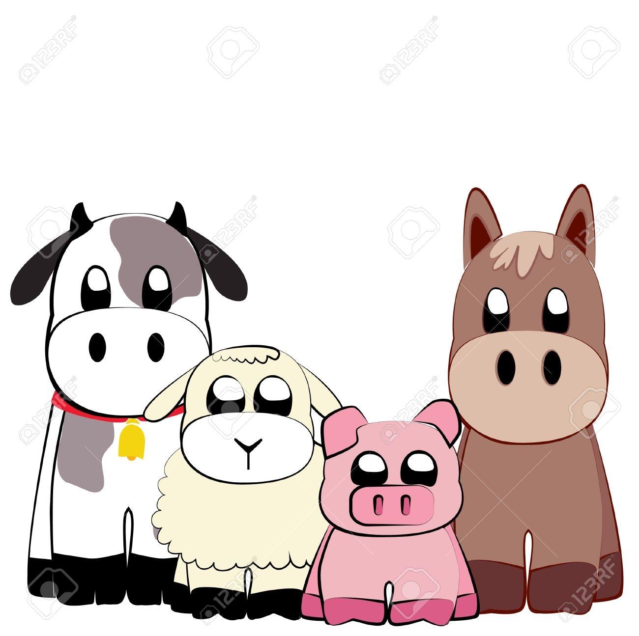 1300x1295 Clip Art Farm Animal Clip Art