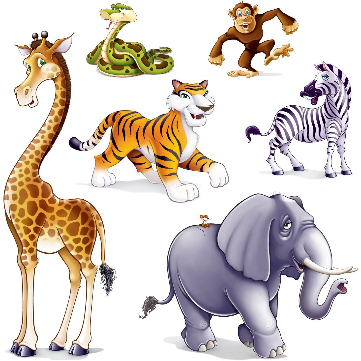 1456x1456 Jungle Animal Props Party Accessory (1 Count) (6pkg