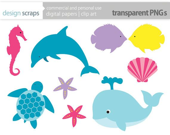570x453 Underwater Sea Life Clipart