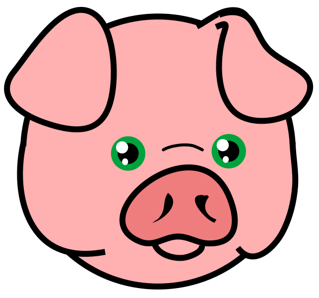 643x600 Collection Of Realistic Pig Head Clipart High Quality, Free