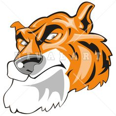 236x236 Mascot Clipart Image Of A Realistic Tiger Graphic Httpwww