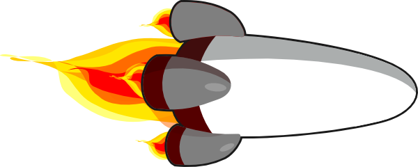 600x240 My Rocketship Edit Realistic White Clip Art