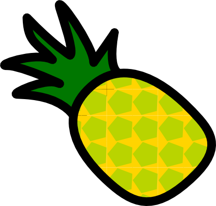 444x424 Realistic Looking Pineapple Clip Art Png Png Mart
