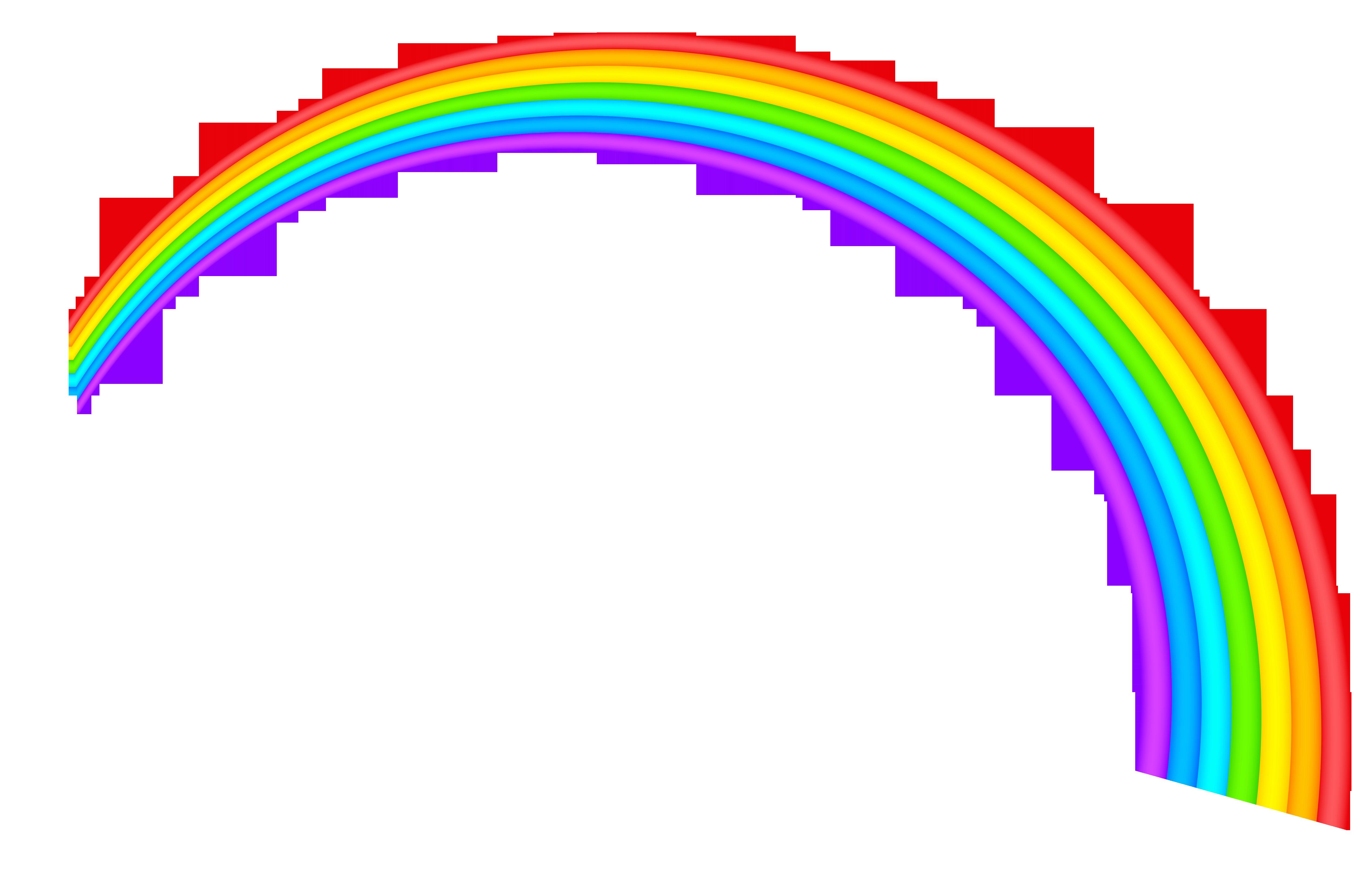 5076x3239 Realistic Clipart Rainbow