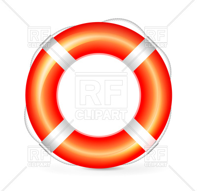 400x389 Realistic Red Lifebuoy With Rope Royalty Free Vector Clip Art