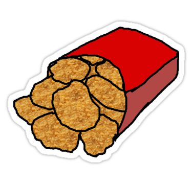 375x360 Chicken Nuggets Clipart Realistic Chicken Nuggets Stickers
