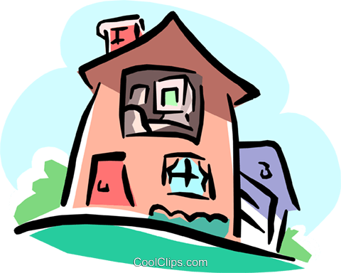 480x384 Non Realistic House Royalty Free Vector Clip Art Illustration