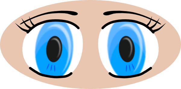 600x296 Blue Eyes Clipart Realistic