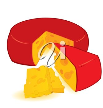333x350 Clip Art Illustration Of Cheese With A Slice Removed